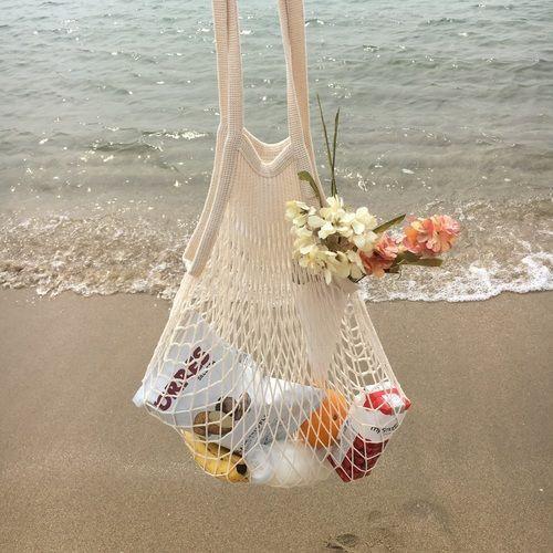 HOMEPLUS Túi mua sắm bằng vải lưới có quai xách đựng trái cây, rau quả tiện dụng