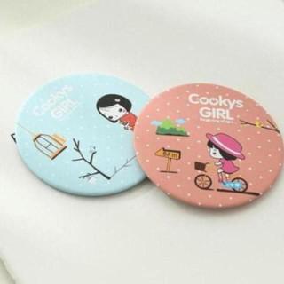 [Rẻ vô địch] Combo 10 gương trang điểm mini cầm tay Hàn Quốc – Gương tròn mini cầm tay bỏ túi tiện dụng