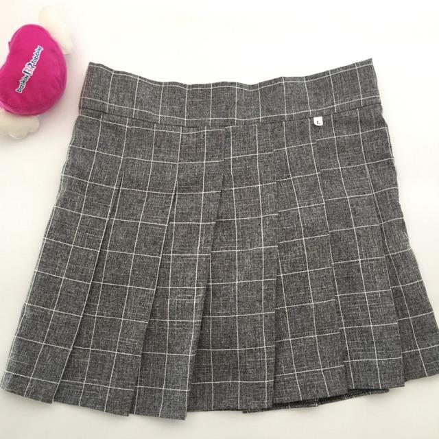 [Xả hàng] Chân váy xếp ly caro có lót quần