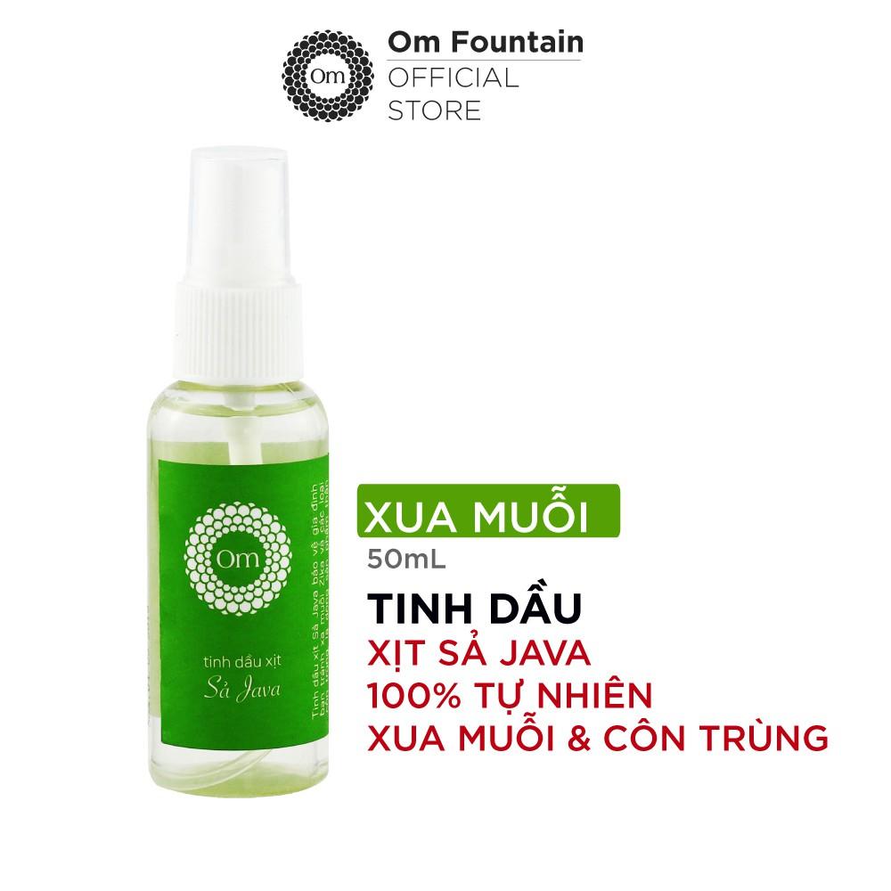 Xịt xua muỗi và côn trùng tinh dầu Sả Java 50ml