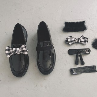 (Sẵn + clip) Giày loafer 4 chi tiết