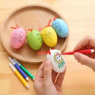 Trứng vẽ ngộ nghĩnh ( kèm bút màu)