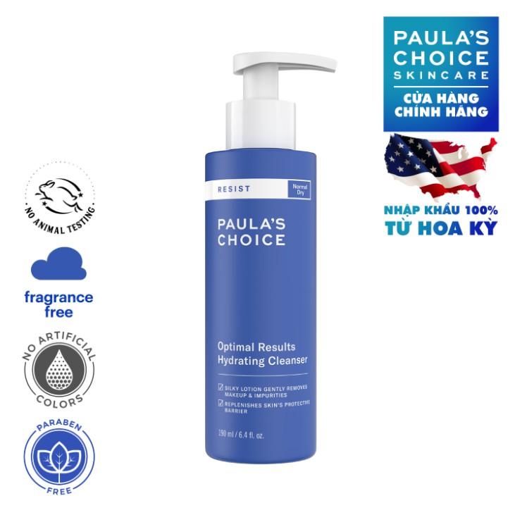Sữa rửa mặt dưỡng ẩm hiệu quả tối ưu Paula's Choice RESIST Optiamal Results  Hydrating Cleanser | Shopee Việt Nam