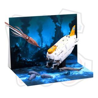 Mô hình giấy Shinkai 6500 Submersible & Đáy biển