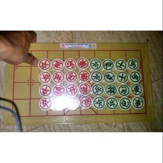 Bộ cờ tướng loại lớn bằng mêka kèm bàn chơi bằng nhựa