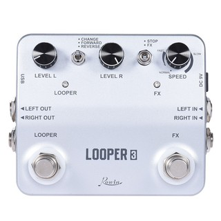 yohi2018 Rowin LOOPER3 Guitar Effect Pedal Mono Stereo Input/ Output Sound