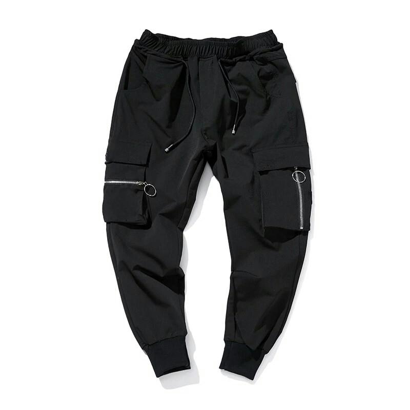 Quần jogger kaki unisex khóa túi phong cách hàn
