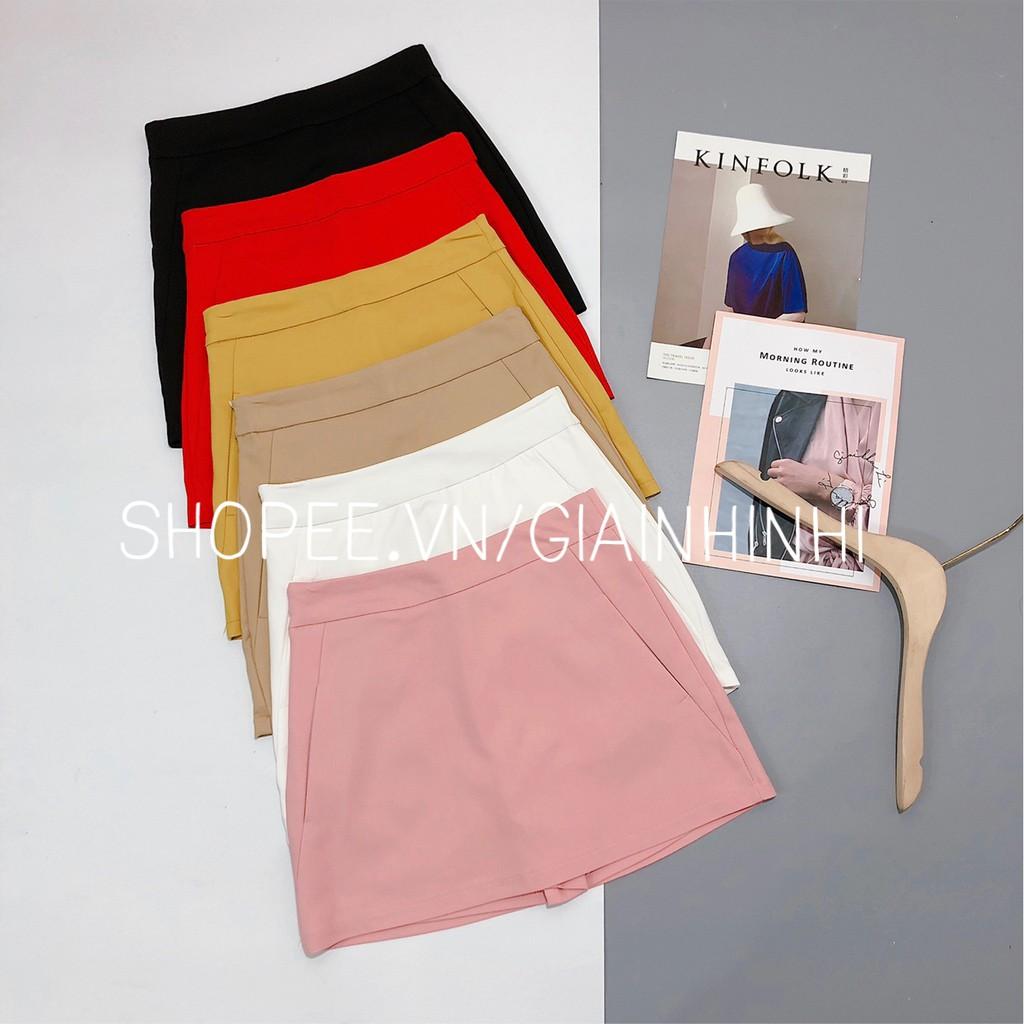 Chân váy dáng A có lót quần túi 2 bên, Chất Umi CV253 - Có quần trong