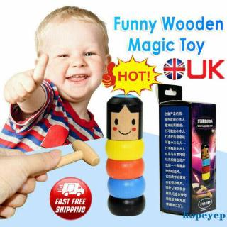❧EJY❧Baby Boys Girls Unbreakable wooden Man Magic Toy Small Wooden Toy