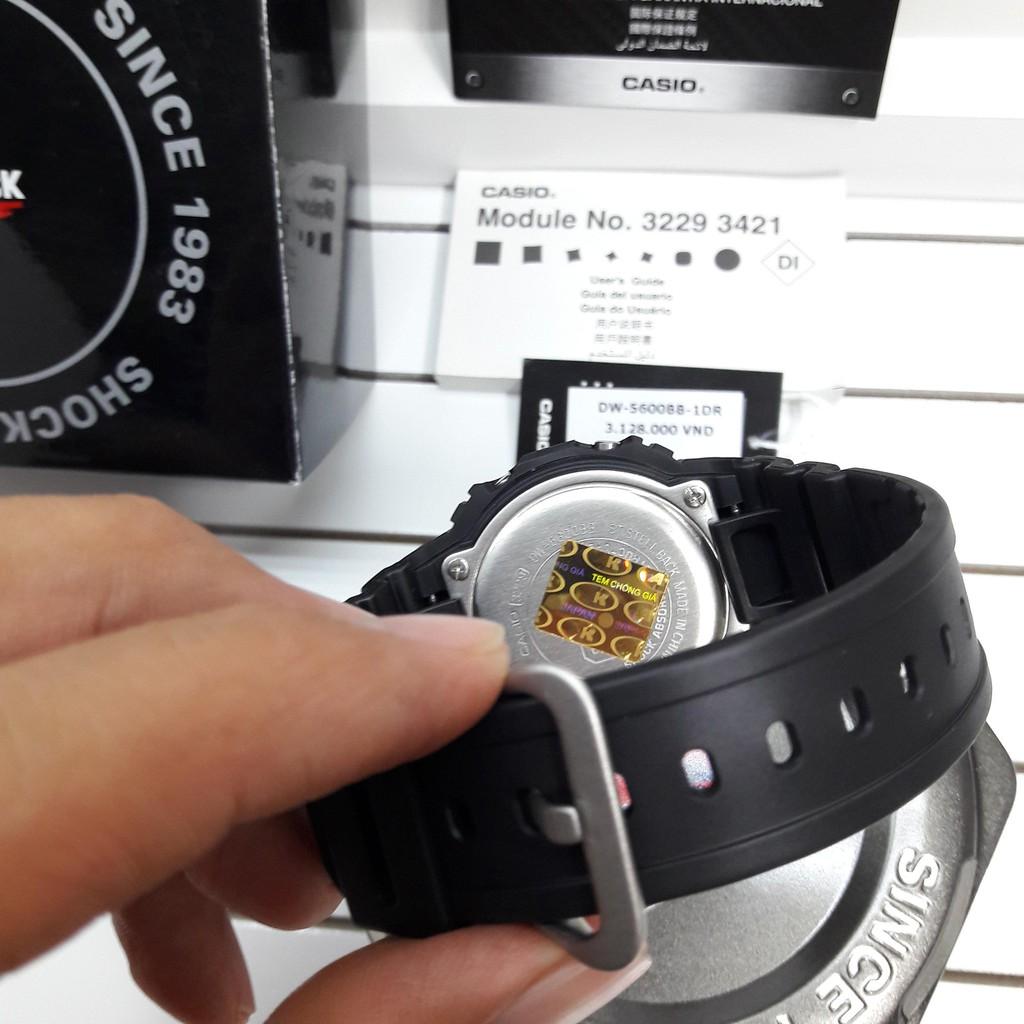 Đồng Hồ Casio Nam Dây Nhựa G-SHOCK DW-5600BB-1DR Chính Hãng