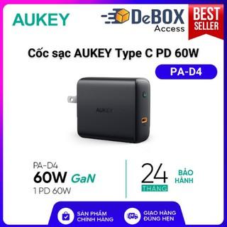 Cốc Sạc Nhanh AUKEY PA-D4 Type C PD 60W Sạc Được Macbook Pro, Sạc Nhanh iPhone/iPad - Bảo Hành 24T