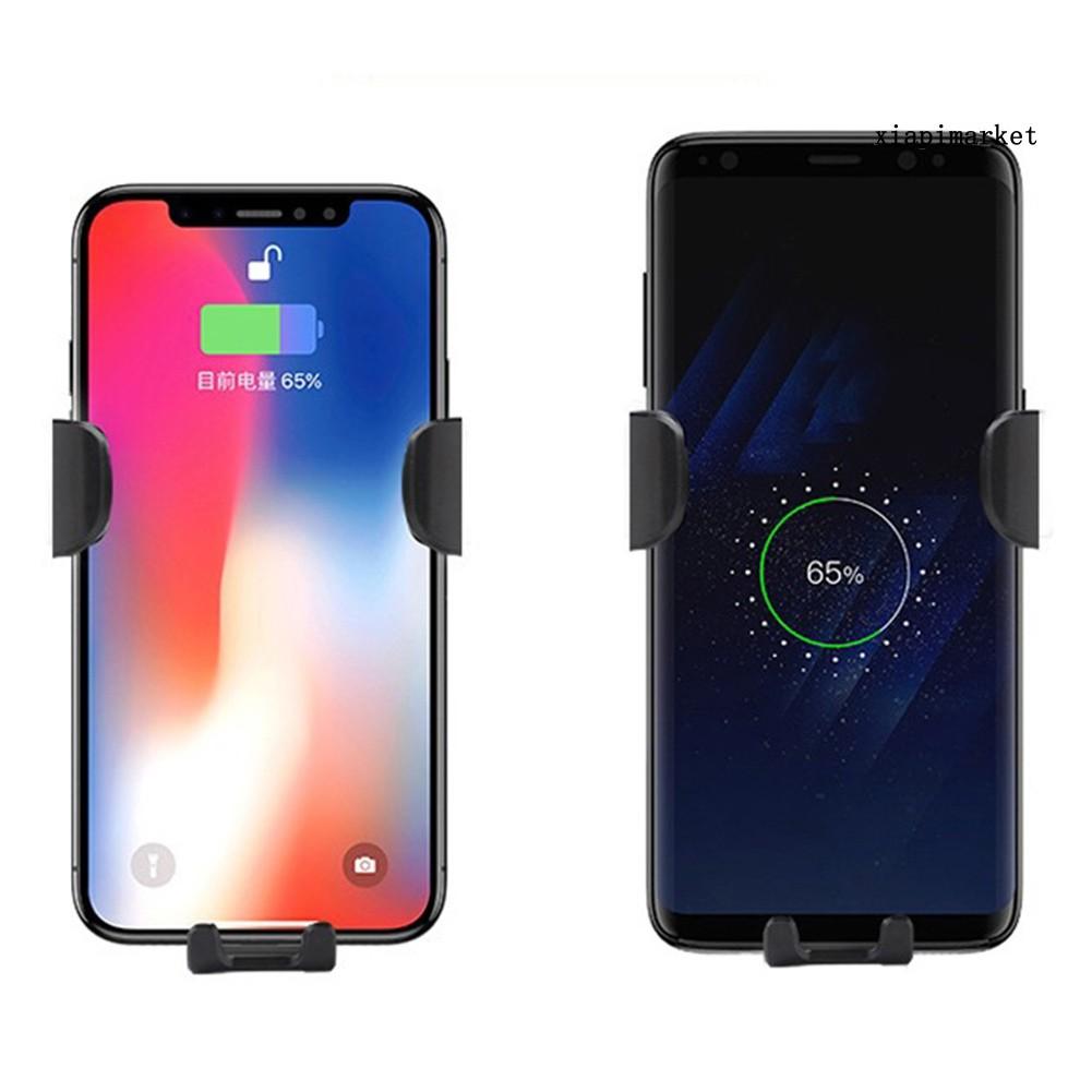 Bộ Sạc Không Dây 15w Trên Xe Hơi Cho Iphone Samsung Huawei