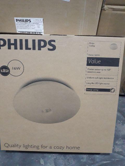 Đèn ốp trần cảm ứng 62234 16w 2700k philips