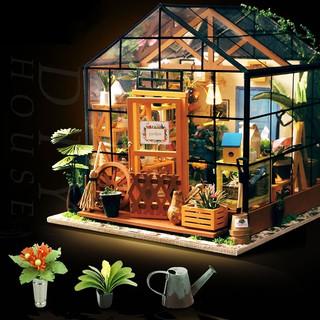 Doll House DIY Garden with Furniture Building Kits Dollhouse DIY Toys