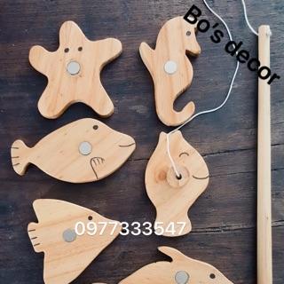 Bộ câu cá bằng gỗ 8 Con