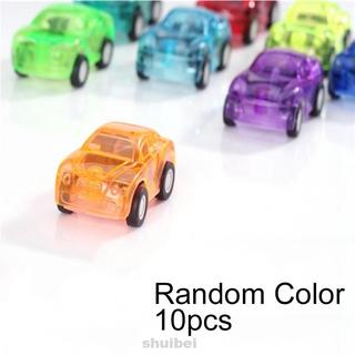 10pcs Mini Pull Back Wind Up Baby Cartoon Truck Racing Gifts Plastic Random Color