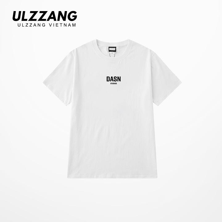 Áo thun tay lỡ ULZZANG 100% cotton dáng unisex, áo form rộng in chữ dasn