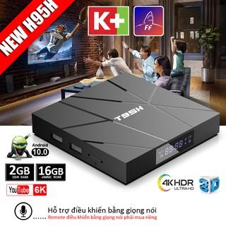 Android tivi box 4k bộ nhớ 16G ram 2G tivi box android 10.0 xem nhiều kênh truyền hình bảo hành 1 năm T95H tv box