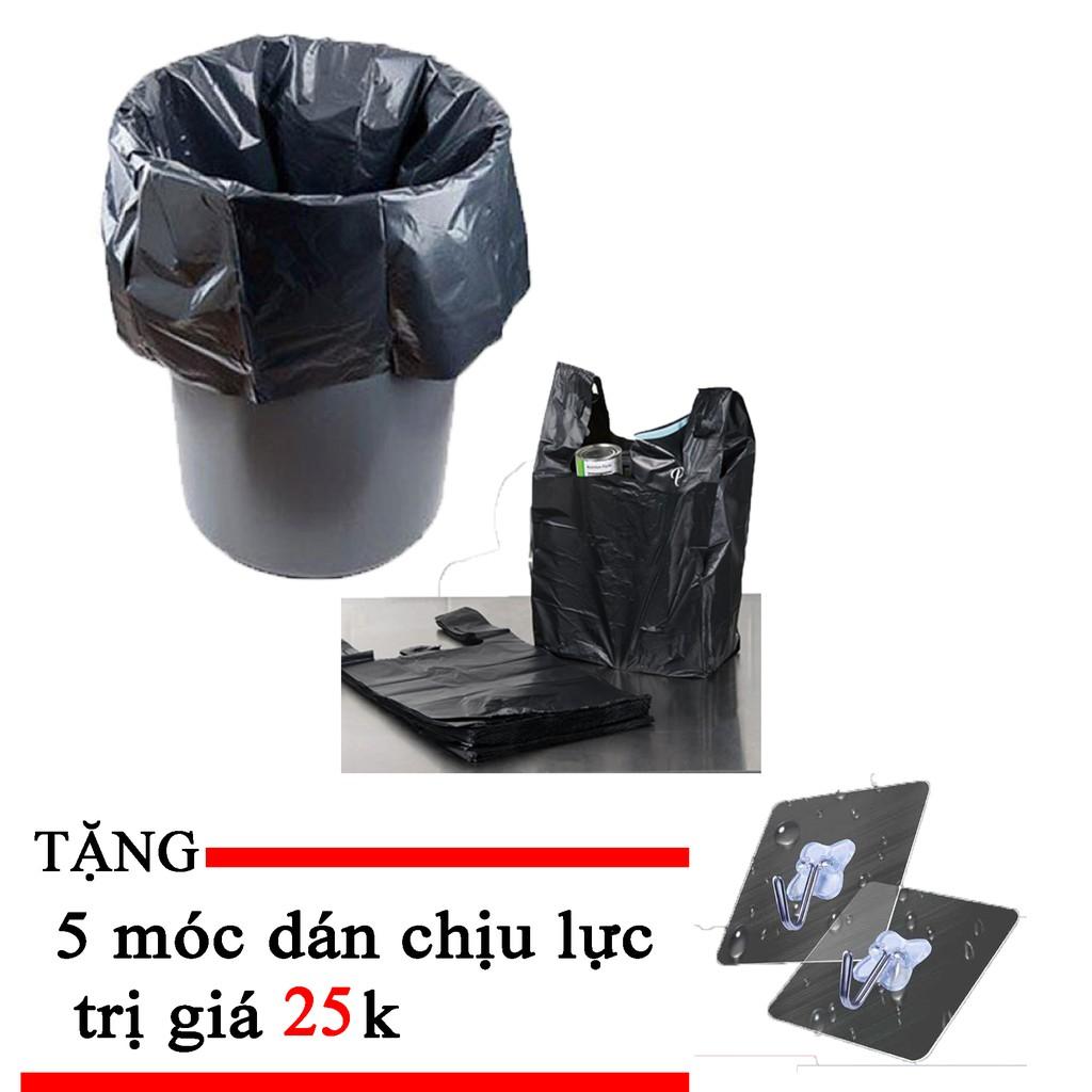 FREESHIP - SIÊU KHỦNG 4kg túi rác 2 quai siêu dai TẶNG 5 móc treo tường chịu lực