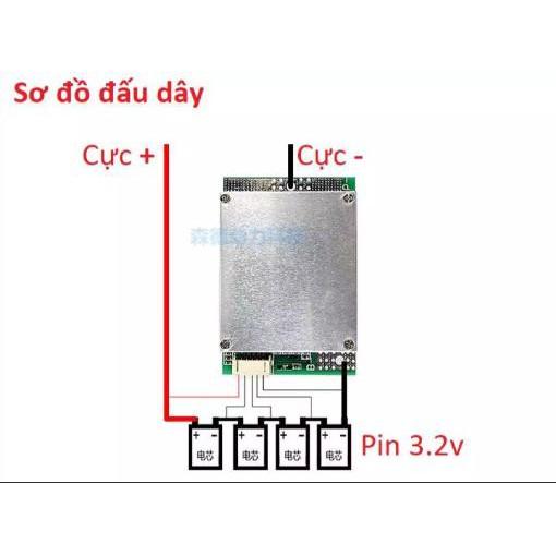 Mạch bảo vệ pin sắt/ion 3.2/3.7v 100A/120A liên tục (Xả Max 200A)