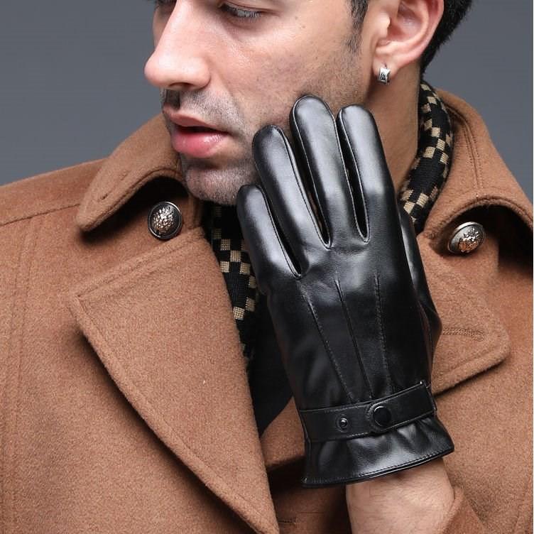 Găng tay da nam lót nỉ siêu ấm Tất/ găng tay
