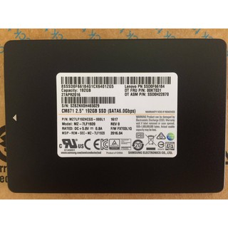 Ổ cứng SSD 2.5 inch SATA Samsung CM871 192GB mới 100%-bảo hành 3 năm