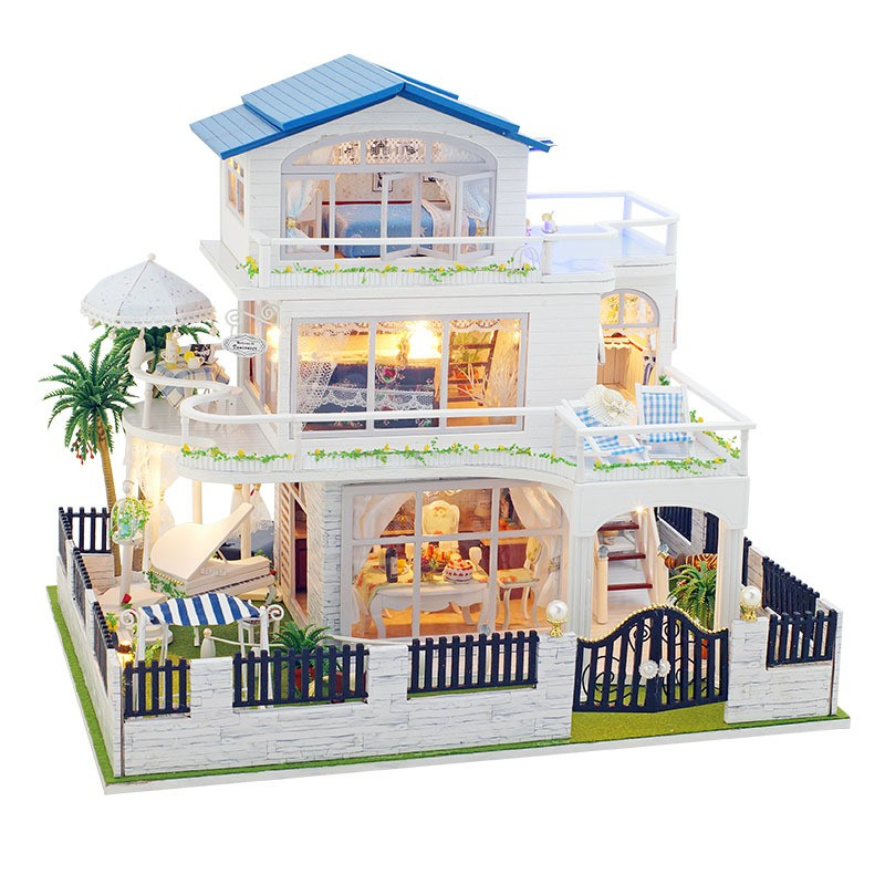 Mô hình nhà gỗ búp bê dollhouse DIY – TB9 Vancouver