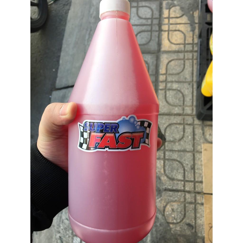 Dung dịch rửa xe màu hồng Super Fast 1 lít
