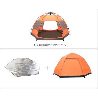 Lều Cắm Trại 6 – 9 Người Tự Bung + Kèm miếng lót nhiệt