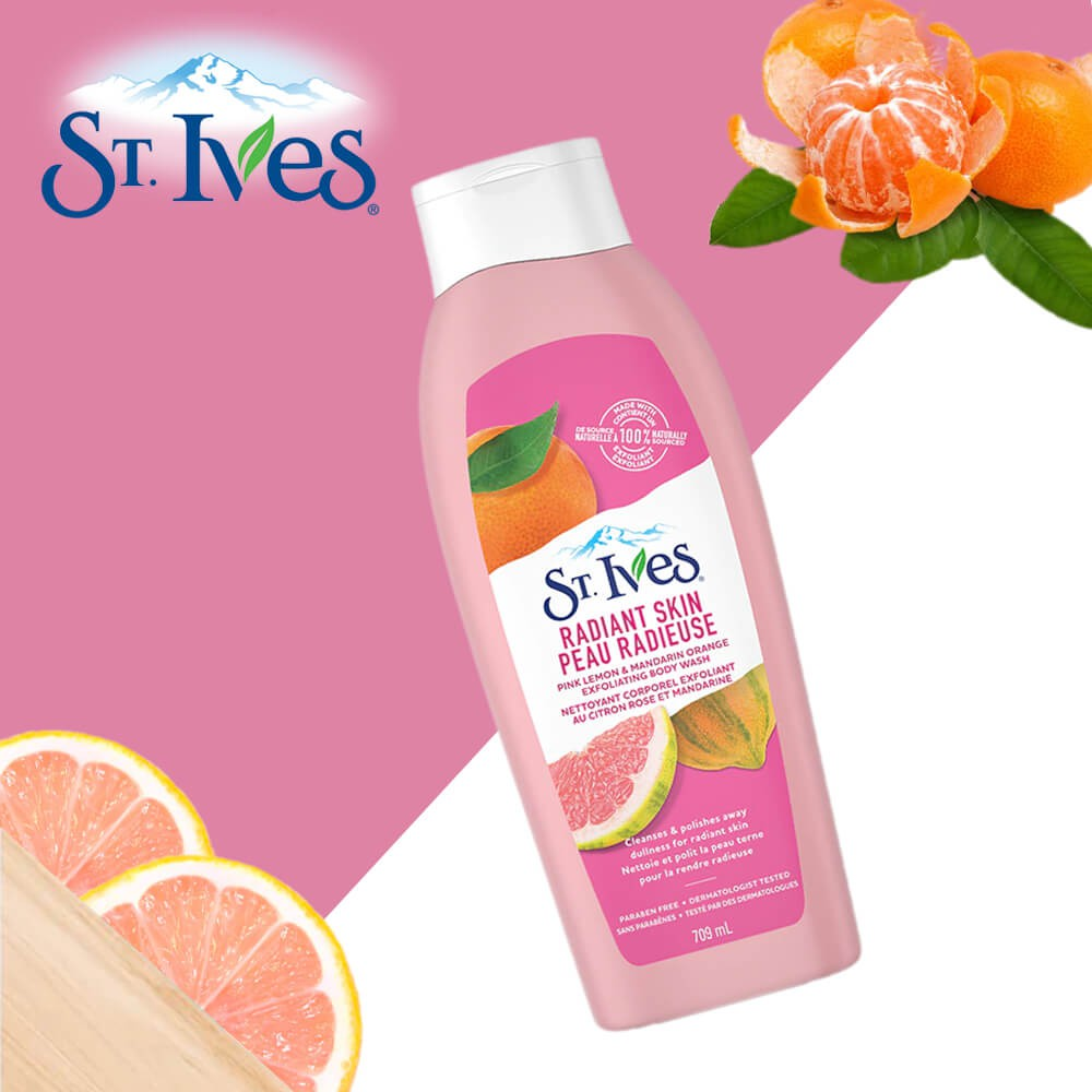 ST.IVES - Sữa tắm Radiant Skin Pink Lemon & Mandarin Orange Exfoliating  Body Wash | Shopee Việt Nam