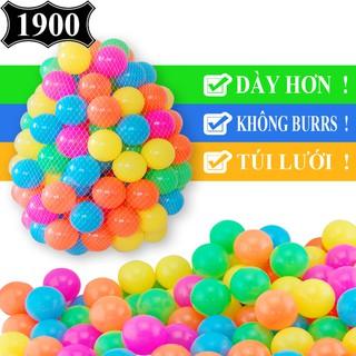 Túi 50 bóng nhựa loại 1, Bóng đa sắc Global cho bể bơi, Nhà bóng, Lều bóng