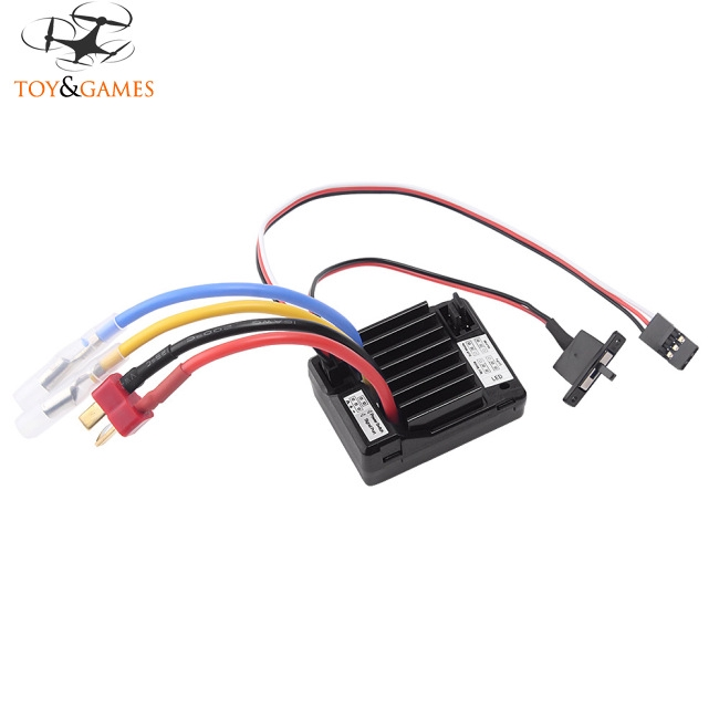 60A Brush Electronic Speed Controller Waterproof ESC for 1/10 RC Car