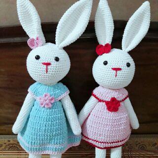 Thỏ cracker- thú bông handmade