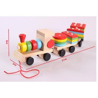 [HOT]Đồ chơi tàu hỏa chở khối gỗ – đồ chơi gỗ an toàn cho bé – Toca Toys