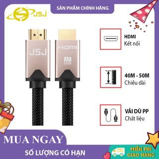 Cáp HDMI 2.0 JSJ H413 dài 10m - 30m dây tròn kết nối TV, laptop, máy chiếu cho hình ảnh chất lượng cao, hỗ trợ 4K, 3D