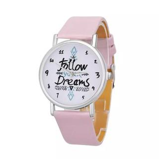 Đồng hồ bé gái Follow your dreams dây da cá tính BBShine – DH003