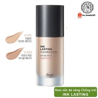 (AUTH_Korea)Kem Nền Đa Năng INK LASTING FOUNDATION Slim Fit Ex SPF30 PA++ The Face Shop