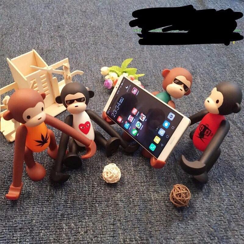 Giá đỡ điện thoại mẫu mới 2018 hình chú khỉ, giá kẹp điện thoại
