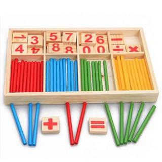 Hộp số và que tính giúp bé làm quen với con số