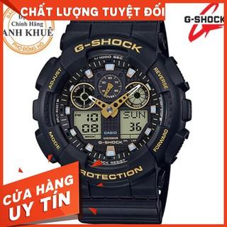 HOT Đồng hồ nam G-SHOCK chính hãng Casio Anh Khuê GA-100GBX-1A9DR Chống nước tuyệt đối
