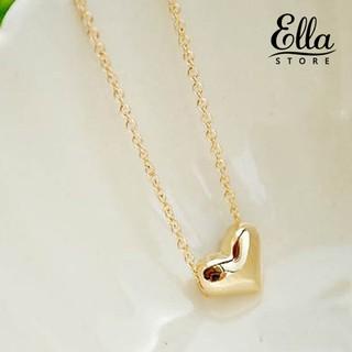 Dây chuyền mạ vàng phối mặt hình trái tim đơn giản thời trang Ne7 4