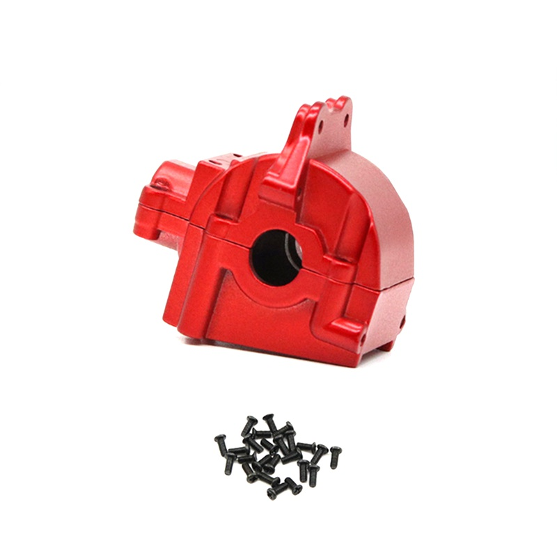 Metal Wave Box Gear Box Shell Cover Differential Housing 144001-1254 for Wltoys 144001 1/14 RC Car Parts,Red 1Pcs
