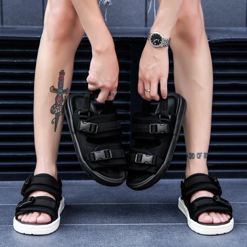 Giày xăng đan 2 quai ngang phong cách unisex thời trang hè trẻ trung