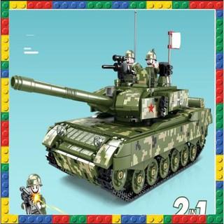 Đồ chơi non lego xe tank mầu xanh lá cây cực đẹp ( 954 mảnh )