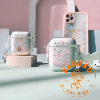 Bao airpod 1 2 pro hình em bé bơi và quả đào bơi kute, dễ thương cực đỉnh thumbnail