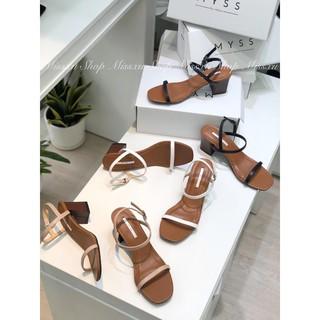Giày Sandal gót trụ vân gỗ 5cm MYSS - 9dc thumbnail