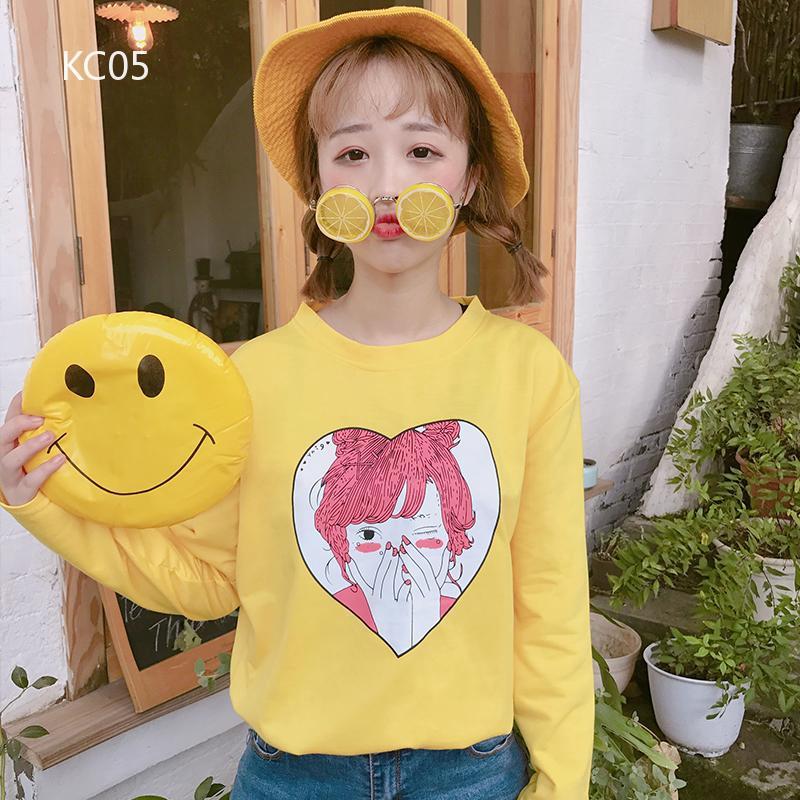 Áo thun tay dài cổ tròn in hình dễ thương phong cách Hàn Quốc thời trang cho nữ - 14222400 , 2045531917 , 322_2045531917 , 181878 , Ao-thun-tay-dai-co-tron-in-hinh-de-thuong-phong-cach-Han-Quoc-thoi-trang-cho-nu-322_2045531917 , shopee.vn , Áo thun tay dài cổ tròn in hình dễ thương phong cách Hàn Quốc thời trang cho nữ