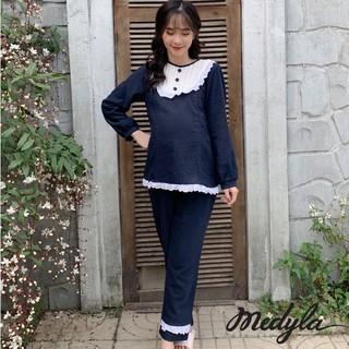MEDYLA – Đồ bầu mặc nhà nhung tăm cho bầu sau sinh Thu Đông – DB176