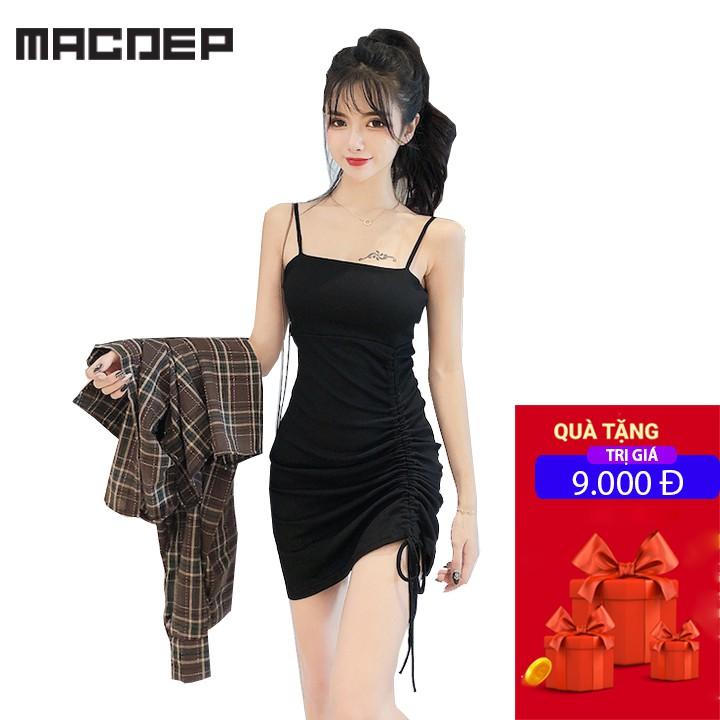 Đầm body ❄ FREESHIP ❄ Váy 2 dây rút eo thời trang XIXO cao cấp mã DAM0009