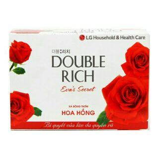XẢ KHO. Xà bông cục Double Rich hoa hồng 90g 17k